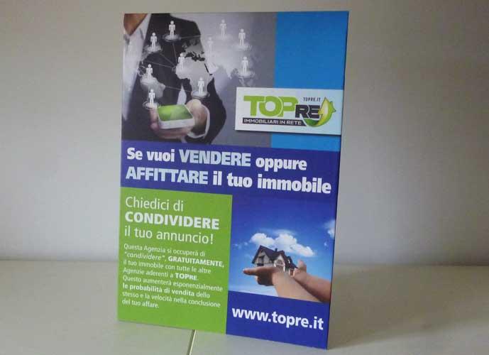 Display da banco TopRE formato A3